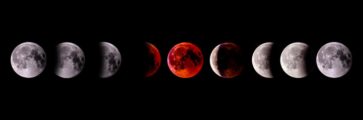 Time lapse of Lunar Eclipse 2018 Blood Moon
