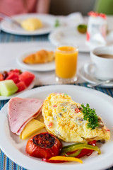 Breakfast with omelet