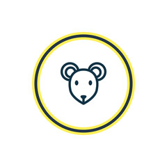 Vector illustration of mouse icon line. Beautiful zoo element also can be used as rat icon element.