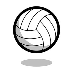 Volleyball sport ball logo vector line 3d icon