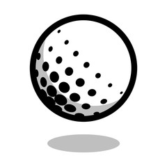 Golf sport ball logo vector line 3d icon