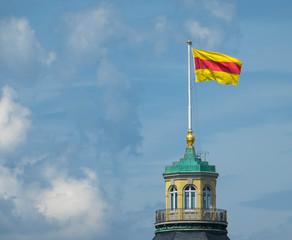Badische Flagge auf dem Schlossturm, Karlsruhe