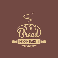 Bread logo for bakery vector background