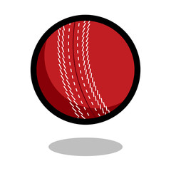 Cricket sport ball logo vector line 3d icon