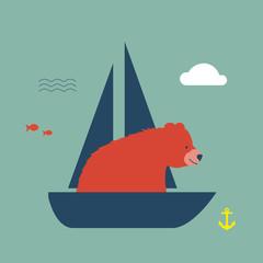 Bär macht Urlaub