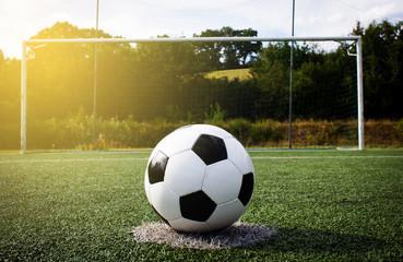 Fußball Elfmeter Sonne Himmel