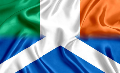 Scotland and Ireland flag silk