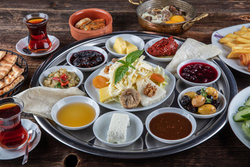 turkish spread breakfast