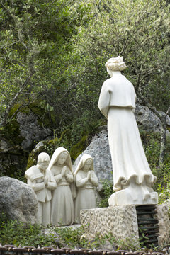 FATIMA, PORTUGAL - June 13, 2018: Fatima in Portugal is a place of revelation to the angel shepherds