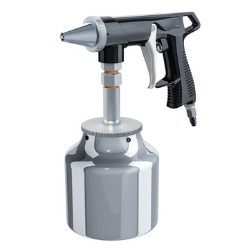 Portable Sand Blaster Gun, 3D rendering