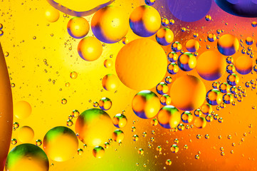 Scientific image of cell membrane. Macro up of liquid substances. Abstract molecule atom sctructure. Water bubbles. Macro shot of air or molecule. Biology, physics or chemistry abstract background.