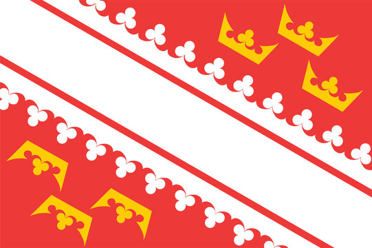 Vector flag of Alsace, region in France. Alsace province of France republic.
