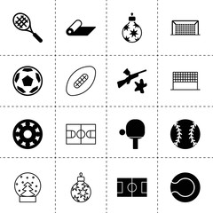 Set of 16 ball filled and outline icons