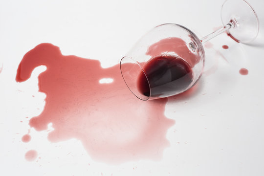 Messy Spilled Red Wine