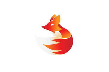 Creative Fox Logo Design Illustration