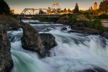 Canvas Prints Forest river Spokane Riverfront Park