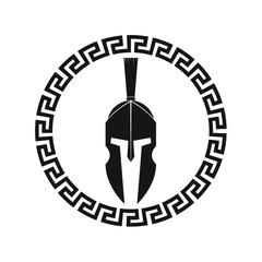 Spartan helmet illustration. Vector.