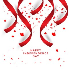 Happy Canada Independent Day Vector Template Design Illustration