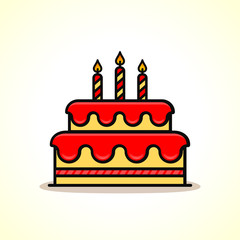Vector birthday cake icon design