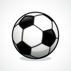 Vector soccer ball icon design