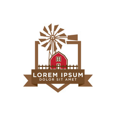 Barn logo design template