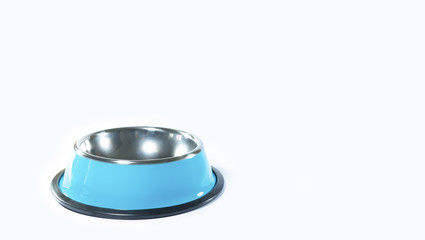 Pet bowl stainless isolated on white