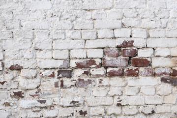 Eine Mauer aus Ziegelsteinen als Hintergrund