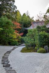 Zen garden in Kyoto, Japan