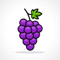 Vector illustration of grapes design icon