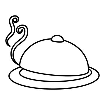 tray server isolated icon