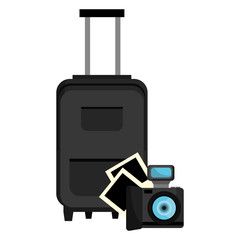 suitcase travel with camera