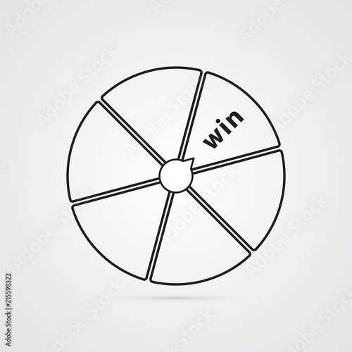 Wheel Of Fortune Disk With Segments Illustration For Luck Success