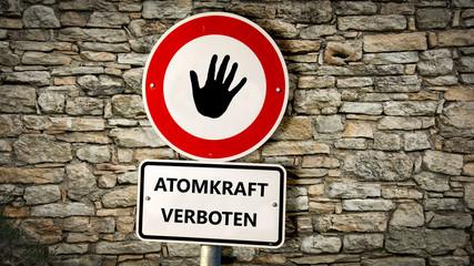 Schild 352 - Atomkraft