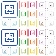 Wallpaper image outlined flat color icons