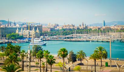 Fototapete - Marina Port Vell,  Barcelona, Spain