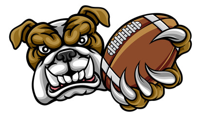 Bulldog American Football Mascot