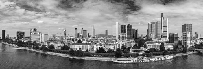 Schwarzweiß Panorama Innenstadt Frankfurt am Main
