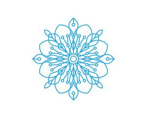 Snowflakes Style Design icons illustration