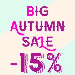 The big autumn sale for 15 percent