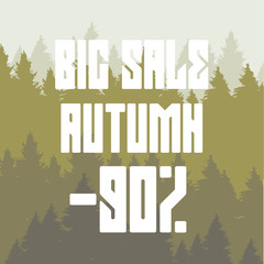 Big autumn sale discount 90 percent