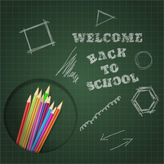 back to school board pencil design vector eps 10