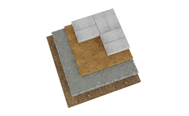 3D realistic render of red lock paving texture.