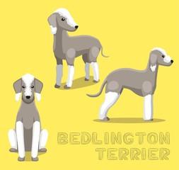 Dog Bedlington Terrier Cartoon Vector Illustration