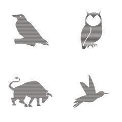 rustic wild animal logo