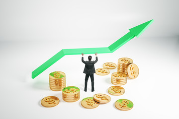 Financial growth and investment concept