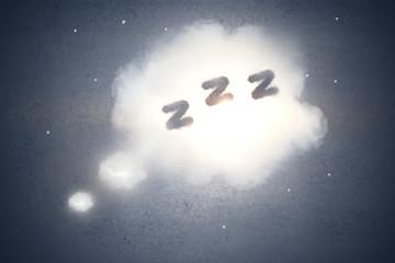 Abstract sleep cloud backdrop