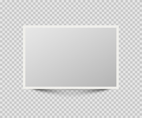 Photo or picture frame isolated on transparent background. Vector illustration.
