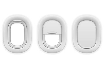 airplane window porthole stock vector illustration