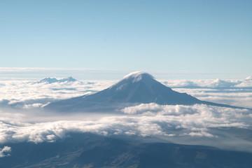 aerial view of Chimborazo volcano, Ecuador.
