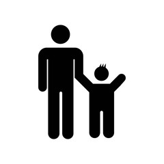 Father with son icon vector icon. Simple element illustration. Father with son symbol design. Can be used for web and mobile.